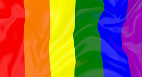 LGBT Flag In The Wind Royalty Free Stock Photos