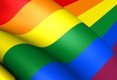 LGBT-flagga vektor illustrationer