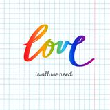 LGBT-Flagge gegen homosexuelle Unterscheidung Vektorhand gezeichnet lizenzfreie abbildung