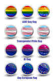 LGBT gay flags. Rounded icon set Royalty Free Stock Photo