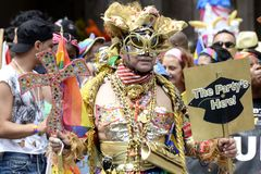 LGBT Gay Pride March in New York City Royalty Free Stock Images