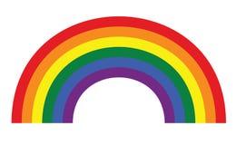 LGBT gay rainbow symbol. Homosexual pride banner illustration royalty free illustration