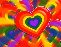 LGBT Heart Royalty Free Stock Photos