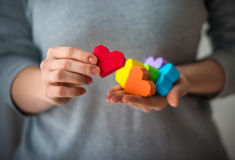 LGBT hearts Stock Photo