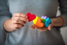 LGBT-hjärtor Arkivfoto