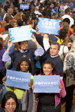 LGBT hold signs at President Obama Royalty Free Stock Photo