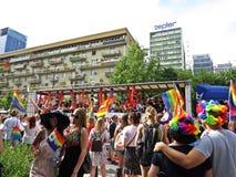LGBT Homoseksualny love parade, Warszawa, Polska, Czerwiec 2018 Zdjęcia Royalty Free