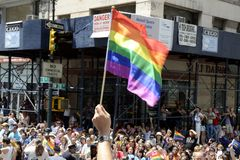 LGBT homosexuelles Pride March in New York City Stockbild