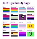 LGBT-Homosexuellflaggen Stockfotos