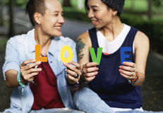 LGBT Lesbian Couple Moments Happiness Concept. Lesbian Couple Moments Happiness Concept Royalty Free Stock Photography