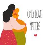 Lgbt lesbian women couple. royalty free illustration