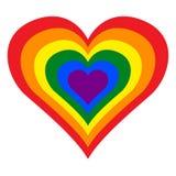 LGBT lesbiano, homosexual, bisexual y transexual Pride Rainbow Heart en formato del ejemplo del vector stock de ilustración
