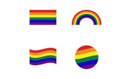 LGBT-logo royaltyfri illustrationer