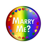 LGBT Marry Me Button Stock Photo