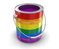 LGBT Paint can Royalty Free Stock Photography