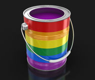 LGBT Paint can. Image with clipping path Stock Image
