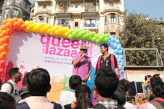 LGBT parade  in Mumbai Stock Photography