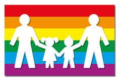 LGBT Parents Pride Flag Icon Photo stock