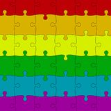 LGBT Pride Background. Colored Puzzles Pieces. LGBT Pride Background in Vector Format. Rainbow Flag. Lgbt Puzzle Concept. Colored Puzzles Pieces. Vector royalty free illustration