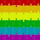 LGBT Pride Background Morceaux colorés de puzzles Images stock