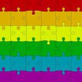 LGBT Pride Background Morceaux colorés de puzzles Image libre de droits
