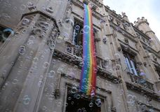 LGBT pride celebrations in mallorca general view stock photo