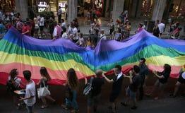 LGBT pride celebrations in mallorca royalty free stock photo