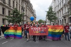 LGBT Pride London 2016 Arkivbild
