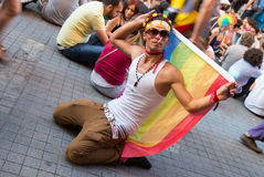 22 LGBT Pride March Foto de Stock Royalty Free