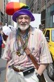 LGBT Pride March alegre em New York City Fotografia de Stock