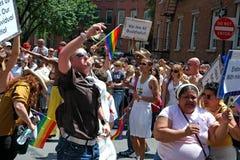 LGBT Pride March gai à Manhattan Photos stock