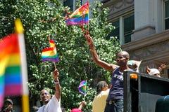 LGBT Pride March gai à Manhattan Photographie stock