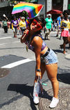 LGBT Pride Parade participant in New York City Stock Photos