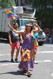 LGBT Pride Parade participant in New York City Royalty Free Stock Image