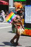 LGBT Pride Parade participant in New York City Stock Photography