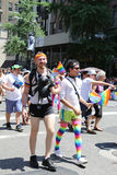 LGBT Pride Parade participants in New York City Royalty Free Stock Images