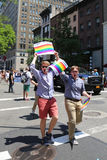 LGBT Pride Parade participants in New York City Stock Images