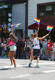 LGBT Pride Parade participants in New York City Royalty Free Stock Photo
