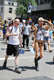 LGBT Pride Parade participants in New York City Stock Photos