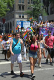 LGBT Pride Parade participants in New York City Royalty Free Stock Photos