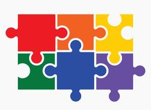 Lgbt puzzle concept Stock Image