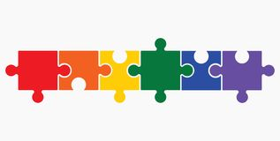 Lgbt puzzle concept Stock Photos