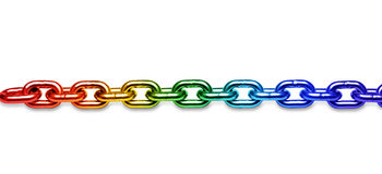 LGBT Rainbow Chain Background stock image