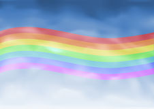 LGBT rainbow flag stock illustration