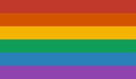 LGBT rainbow flag Royalty Free Stock Photo