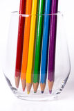 LGBT rainbow flag. Pencils lined up to form a rainbow flag Royalty Free Stock Photography