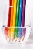 LGBT rainbow flag. Pencils lined up to form a rainbow flag Stock Photo