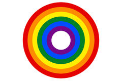 LGBT rainbow flag is the target vector Royalty Free Stock Image