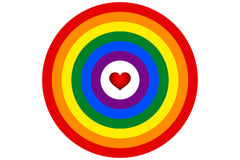 LGBT rainbow flag is the target vector Stock Images