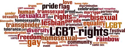 LGBT rights word cloud. Concept. Vector illustration vector illustration